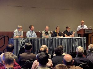Figure 1: Yann LeCun and other leading experts at the panel session, Thursday evening